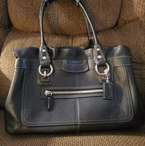 Coach Penelope Ruffled Top Pebbled Leather Satchel